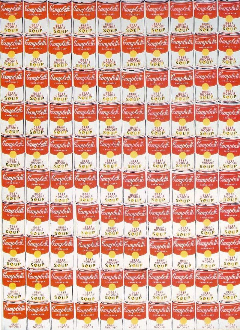 "Andy Warhol. One hundred cans of soup ""Campbell"""