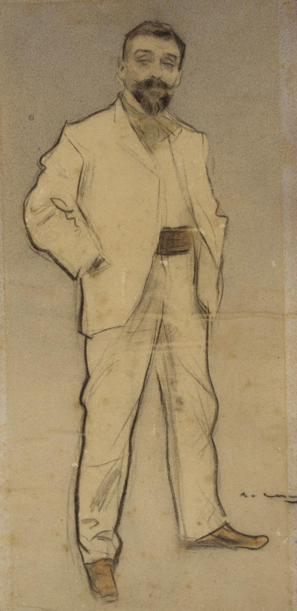 Рамон Касас Карбо. Портрет Хосепа Кусаха