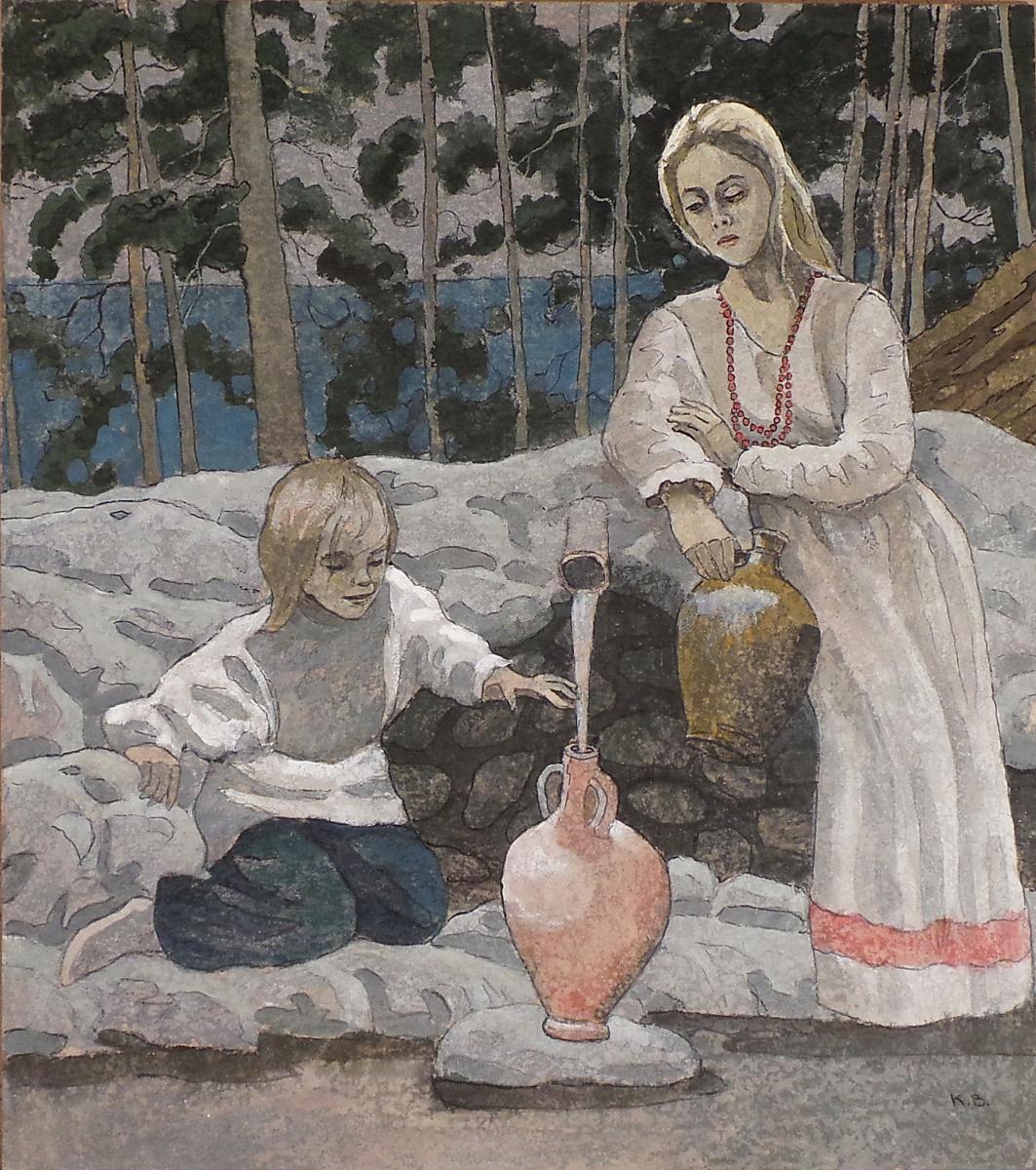 VALERIY VLADIMIROVICH KOMAROV. AT THE SPRING.