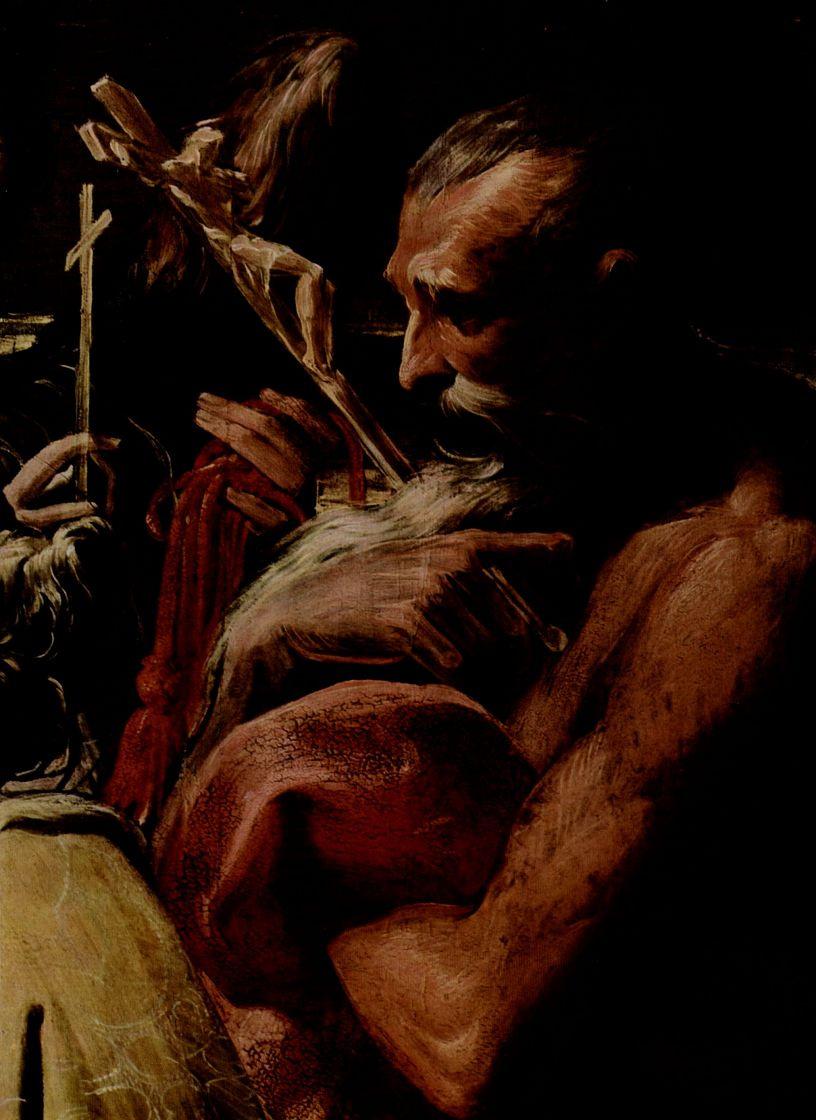 Франческо Пармиджанино. Мадонна со св. Магдаленой, св. Петром, св. Иеронимом и св. Михаилом, деталь