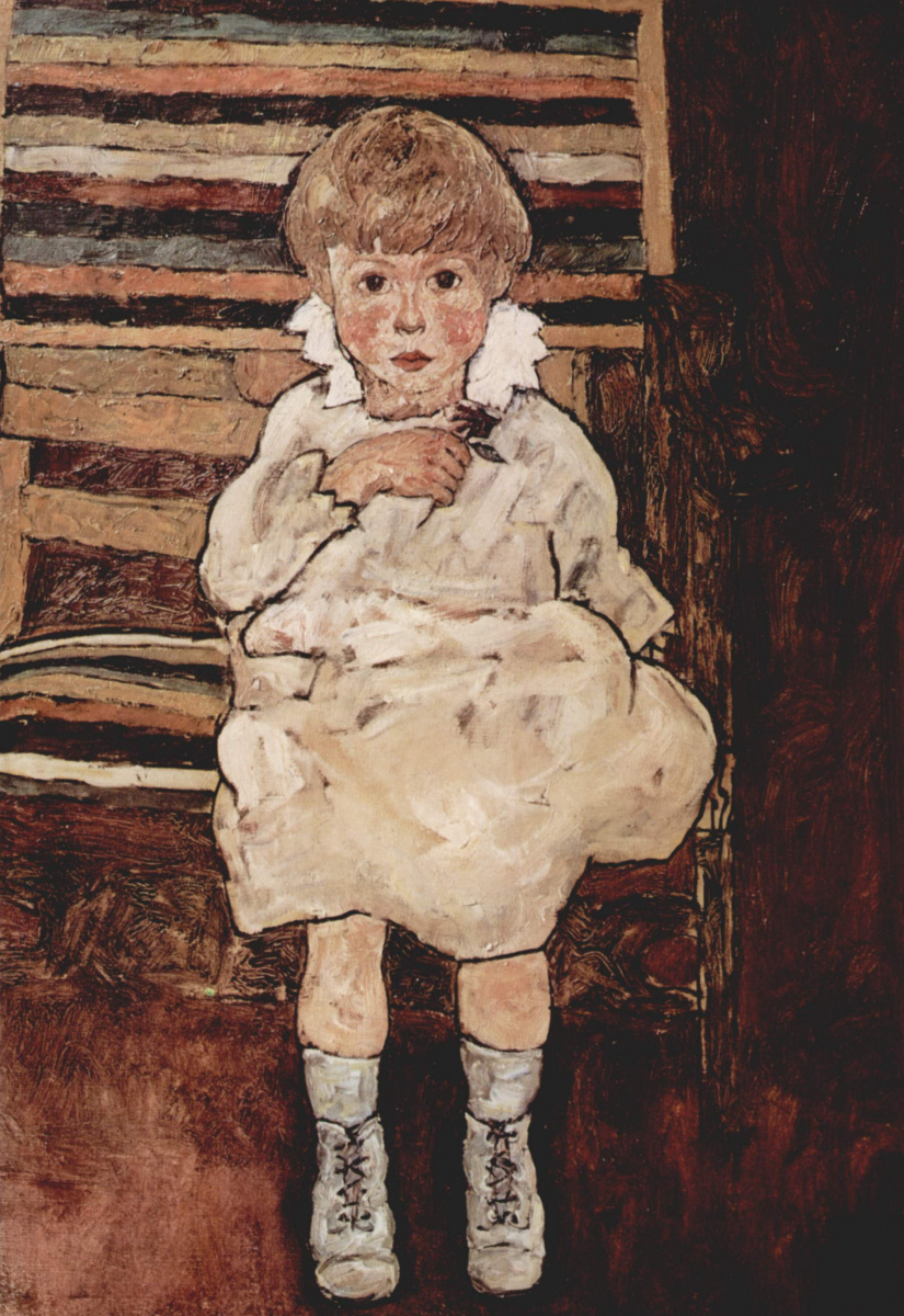 Эгон Шиле. Сидящий ребенок