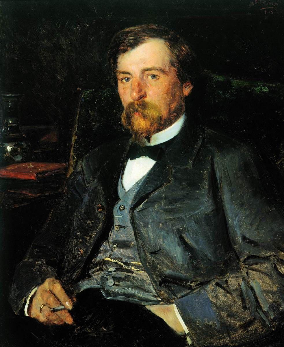 Vladimir Egorovich Makovsky. Portrait of the artist Illarion Mikhailovich Pryanishnikov