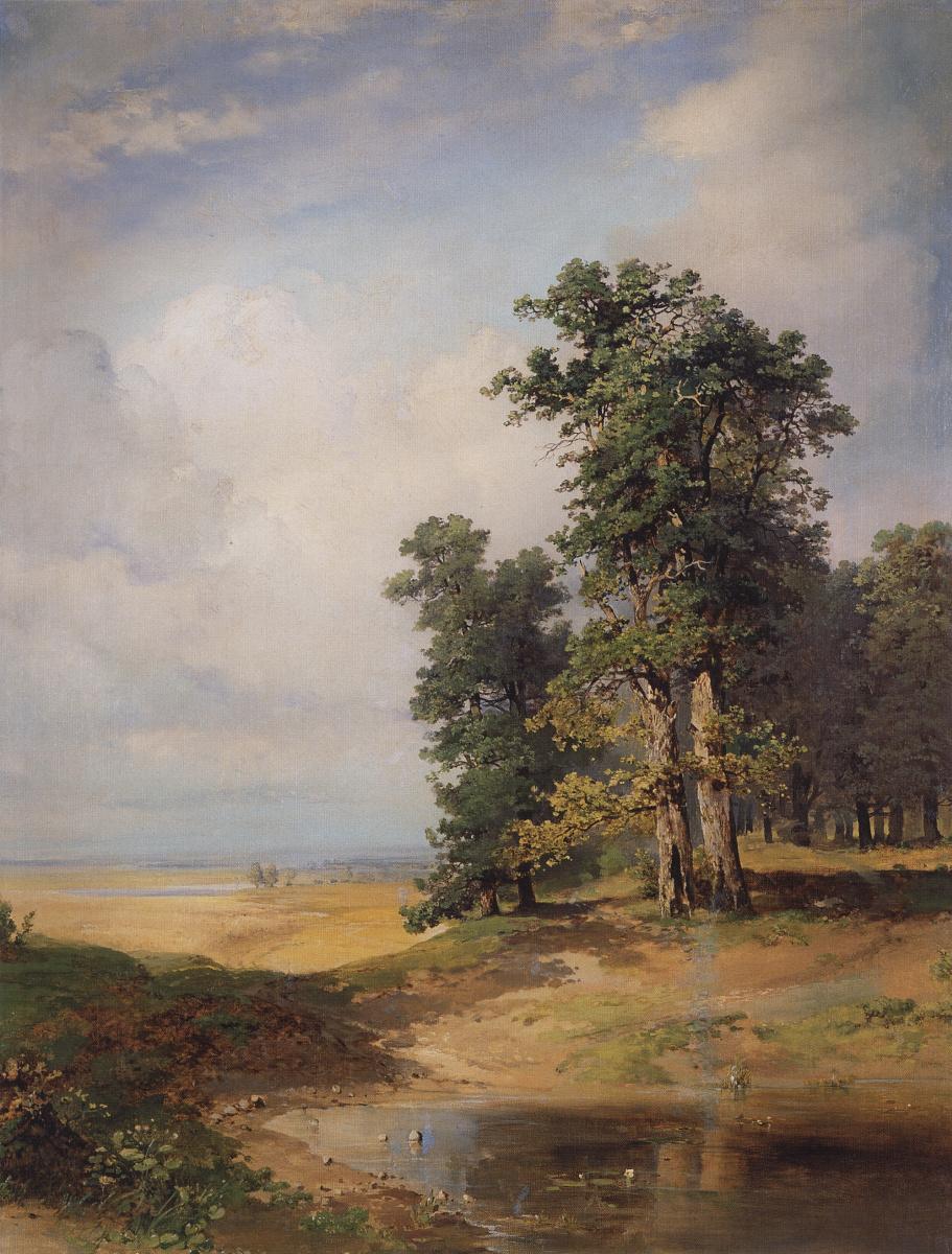 Алексей Кондратьевич Саврасов. Летний пейзаж с дубами