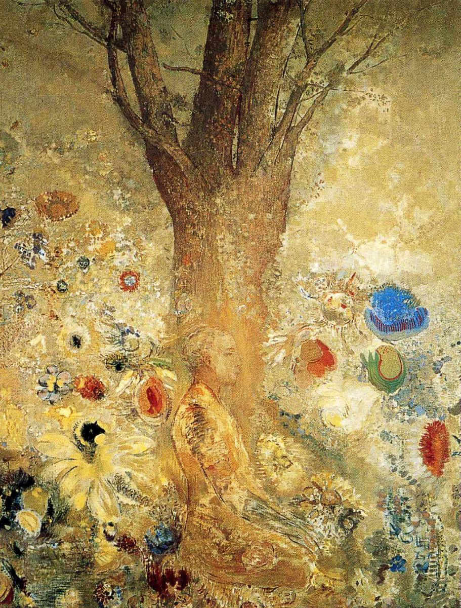 Одилон Редон. Раздумья у дерева