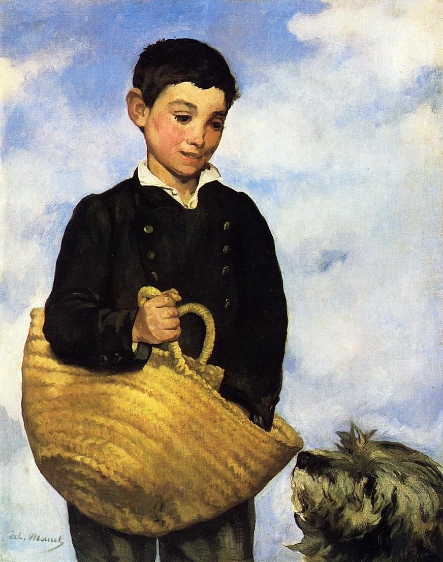 Эдуар Мане. Мальчик с собакой