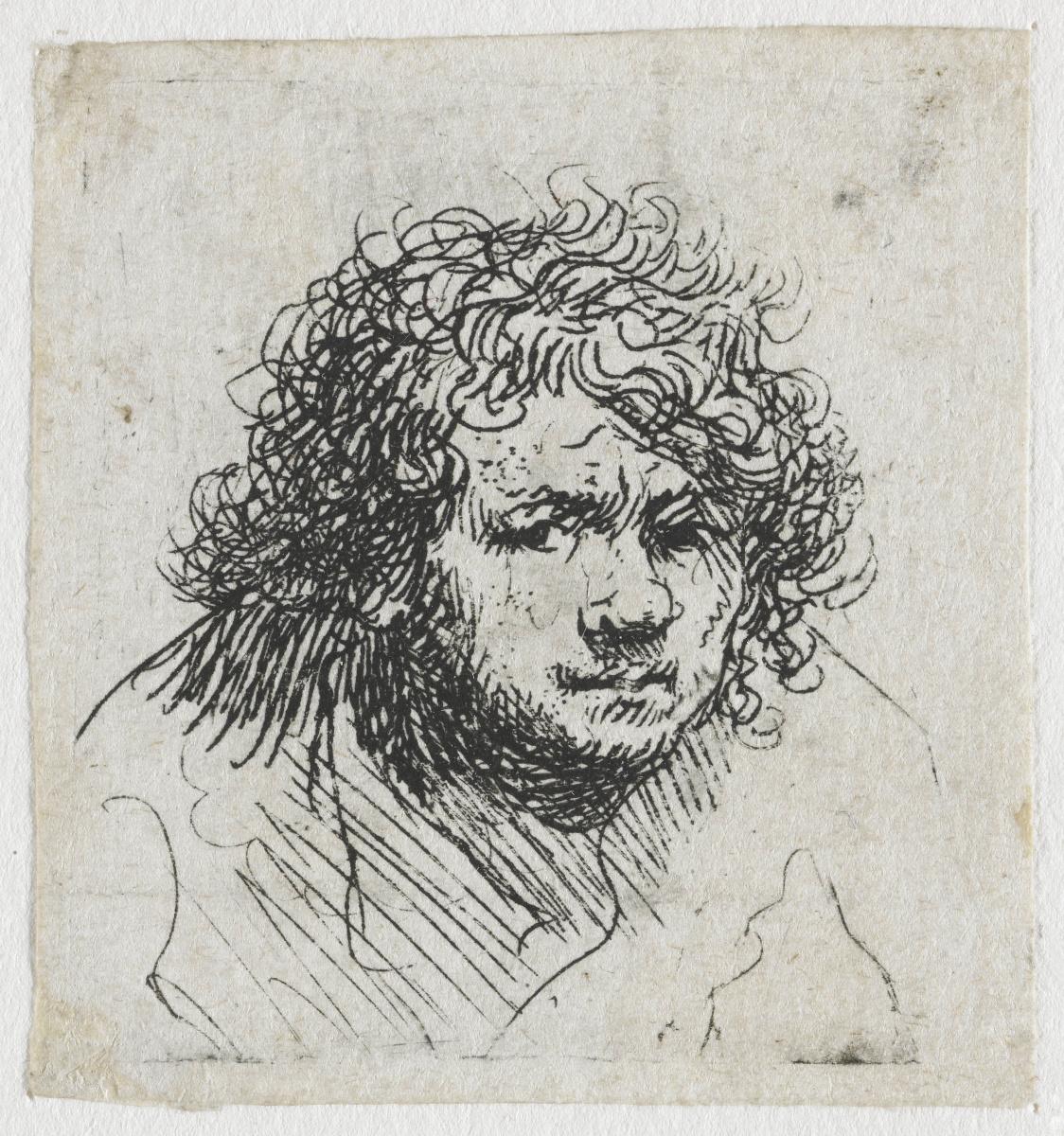 Рембрандт Харменс ван Рейн. Автопортрет с поднятыми плечами