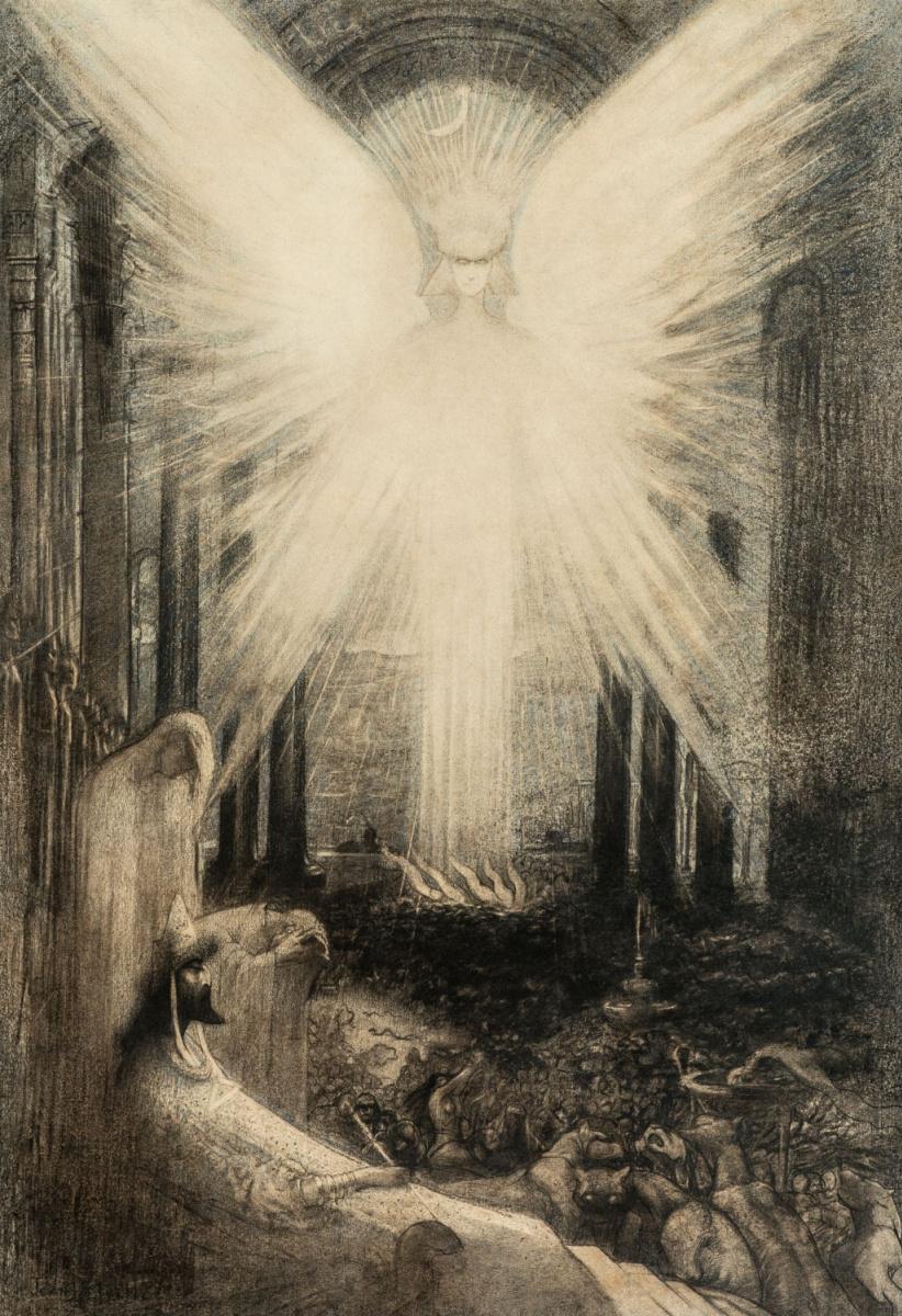 Жан Дельвиль. Ангел великолепия или Аллегория Ада