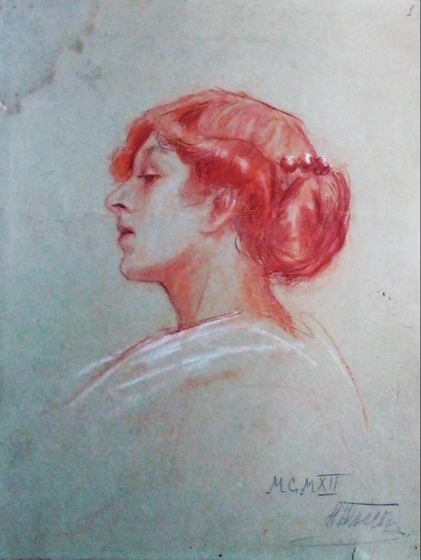 Nadezhda Konstantinovna Shved-Radlov (Radlov). Self-portrait