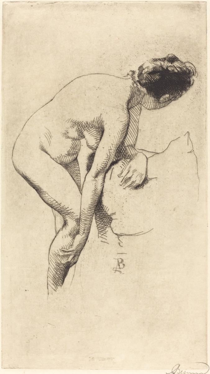 Paul Albert Benar. Woman holding leg. 1886