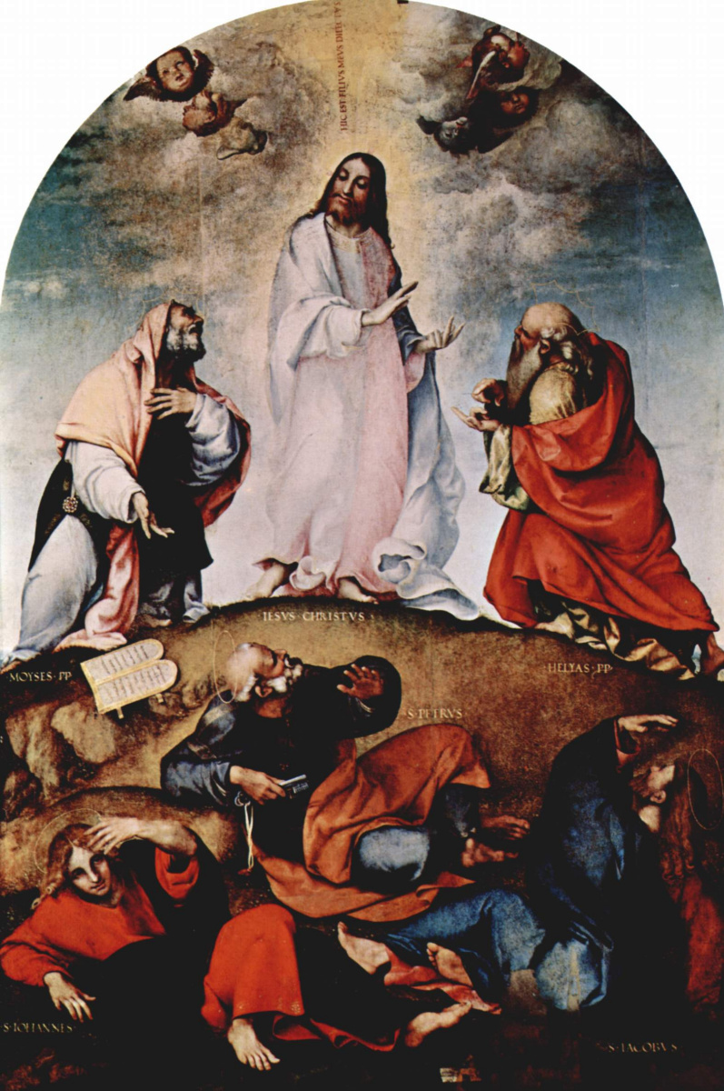 Лоренцо Лотто. Преображение Христово