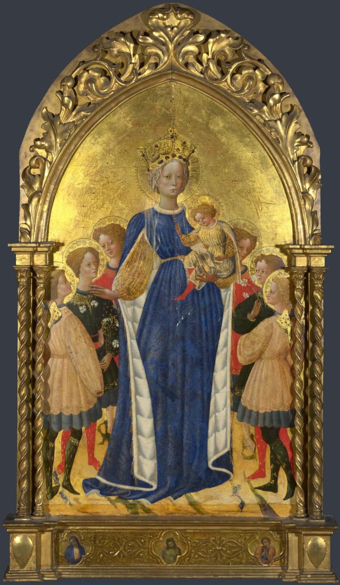 Д Антонио Ди Бартоломео Франческо. Мадонна с младенцем и шесть ангелов и двое херувимов