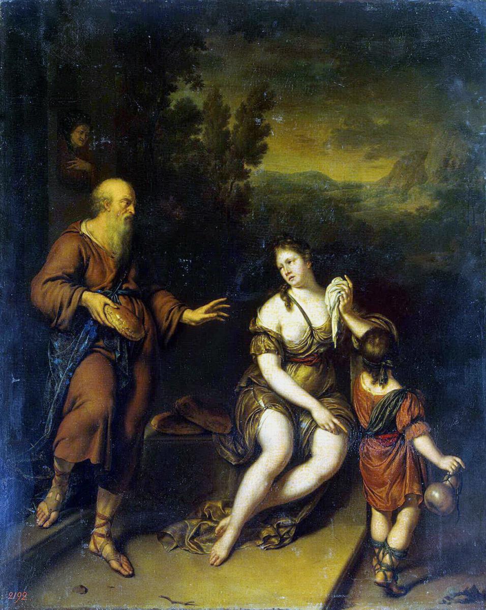 Виллем ван Мирис. Изгнание Агари