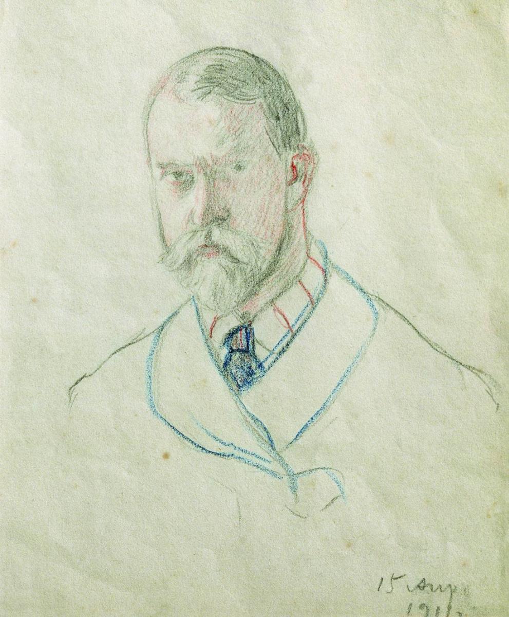 Boris Kustodiev. Self-portrait
