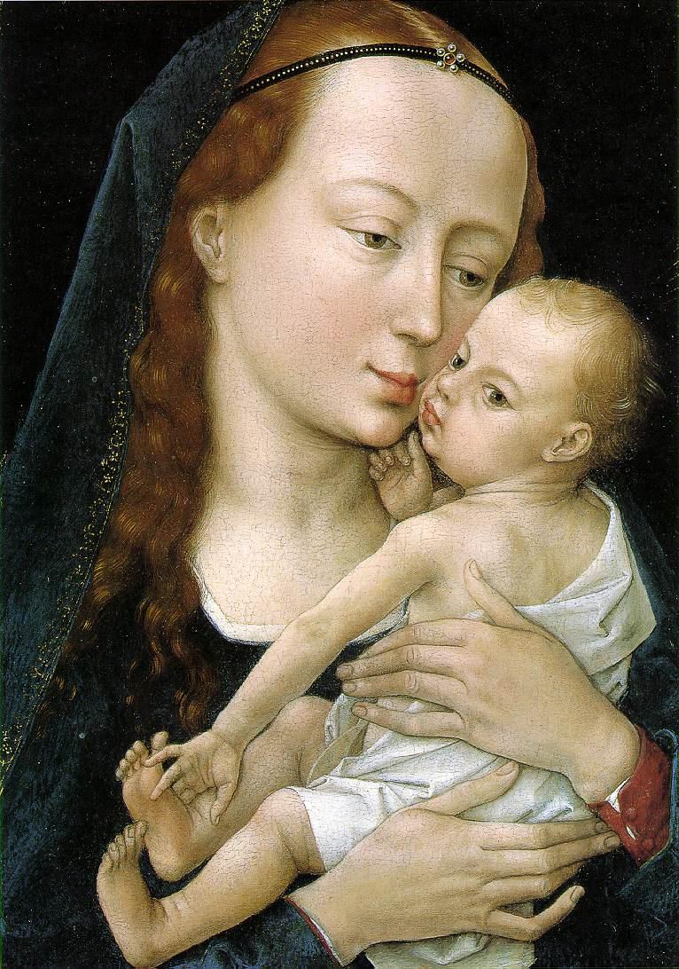 Rogier van der Weyden. The virgin and child