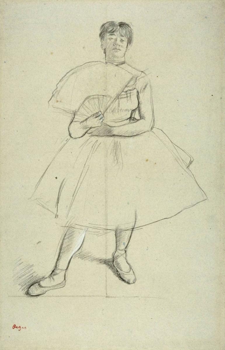 Эдгар Дега. Танцовщица с веером