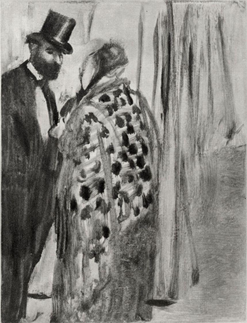 Edgar Degas. The conversation Ludovic halévy and Madame cardinal