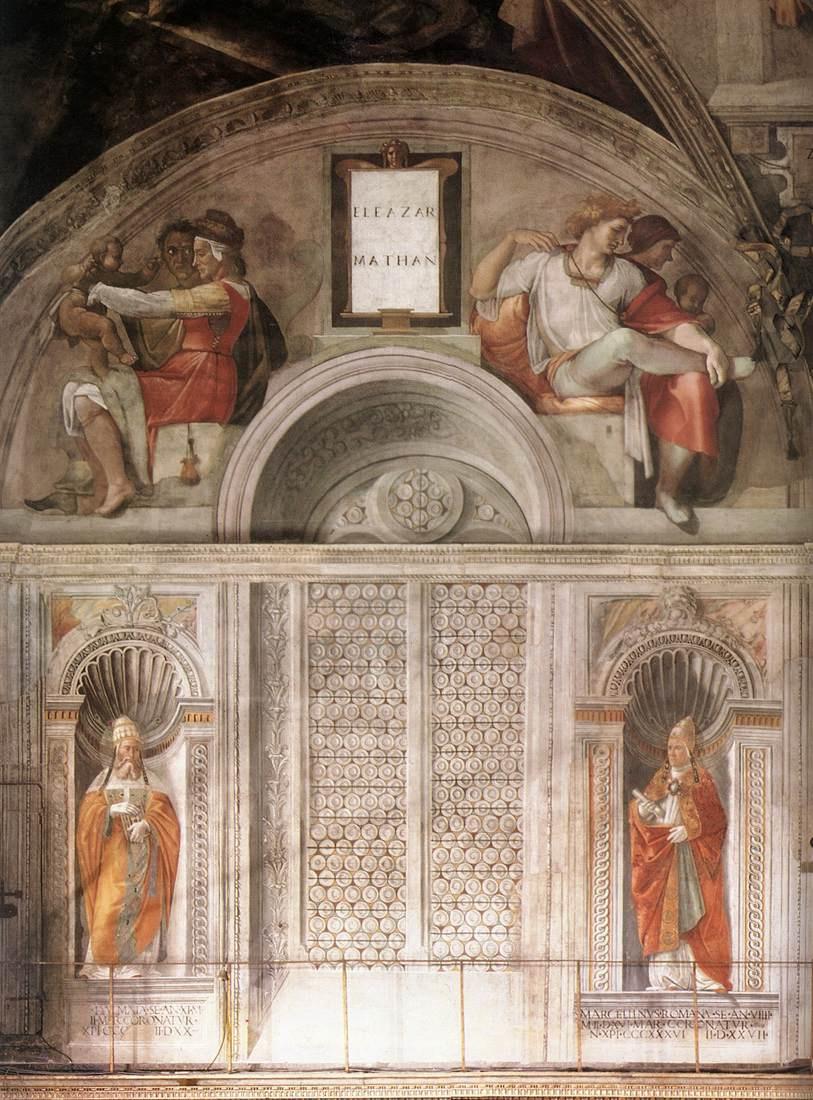 Микеланджело Буонарроти. Сикстинская капелла. Люнеты и Папы