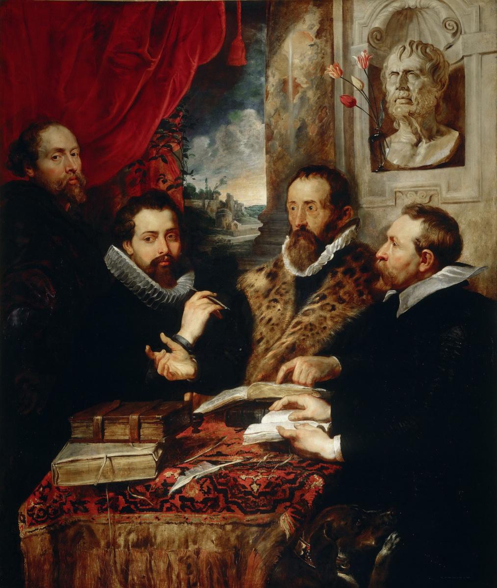 Питер Пауль Рубенс. Четыре философа (автопортрет с братом Филиппом и друзьями)