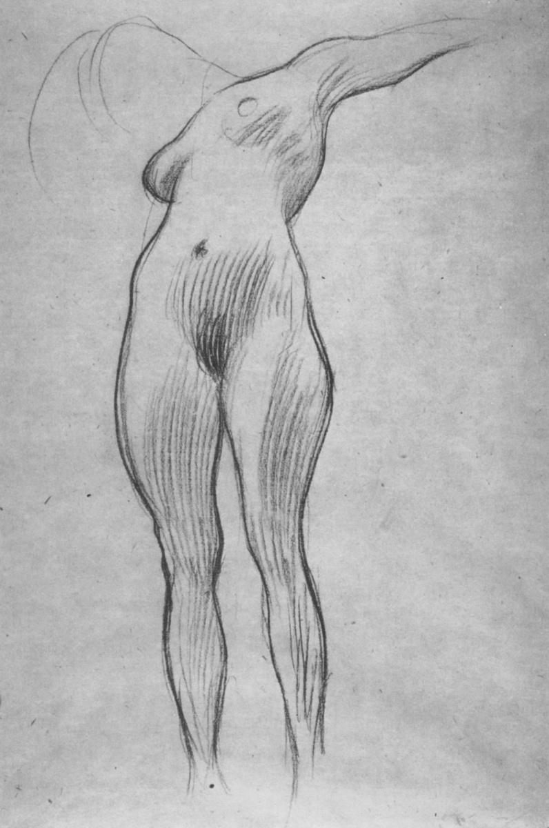 """Густав Климт. Парящая обнаженная II (Эскиз для """"Медицины"""")"""