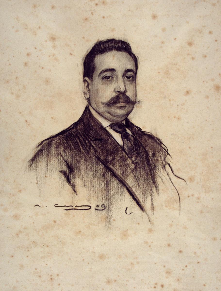 Рамон Касас Карбо. Портрет Амадео Уртадо