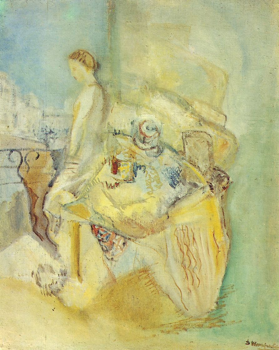 Давид Петрович Штеренберг. Женщина на балконе