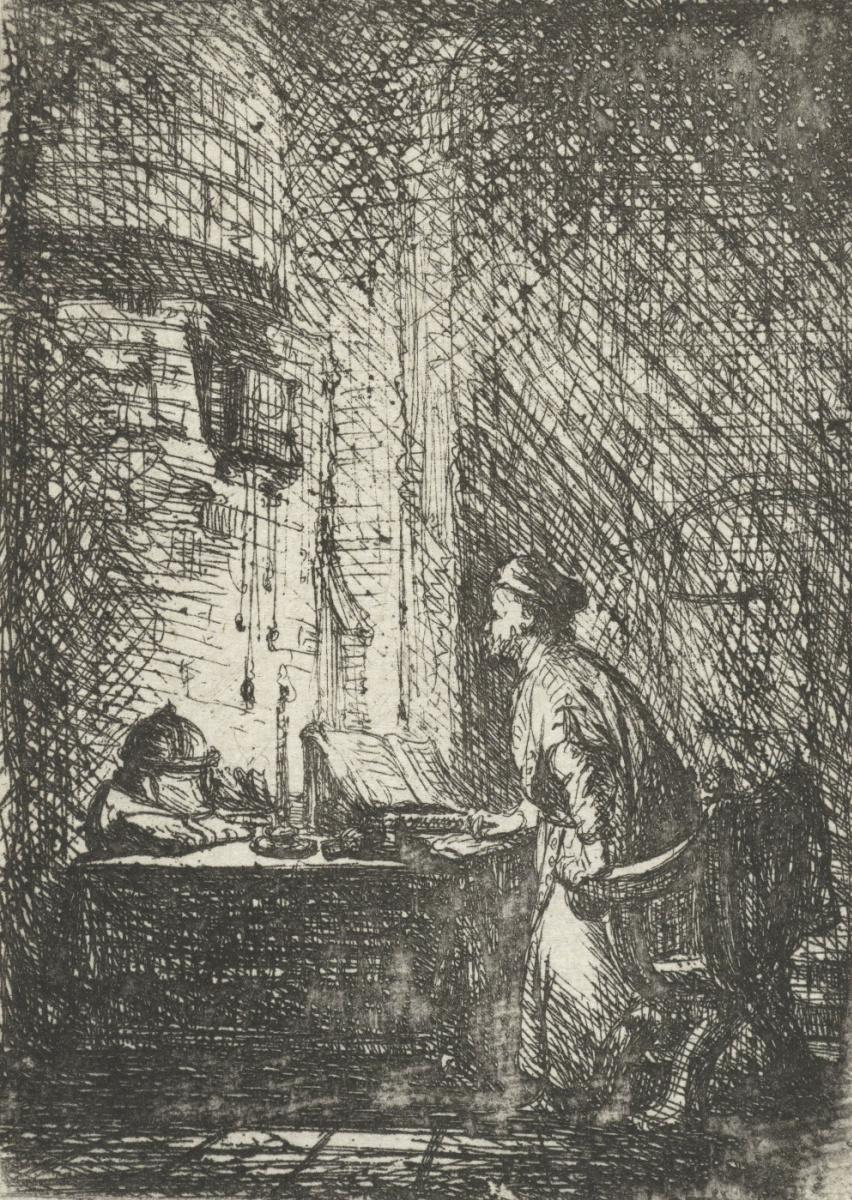Ян Ливенс. Ученый в своем кабинете