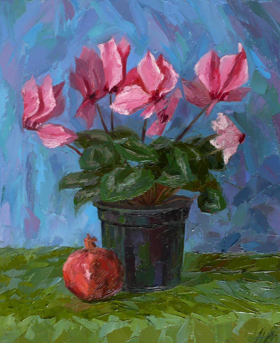"Sergey Perevozchenko. ""Cyclamen is in bloom"""