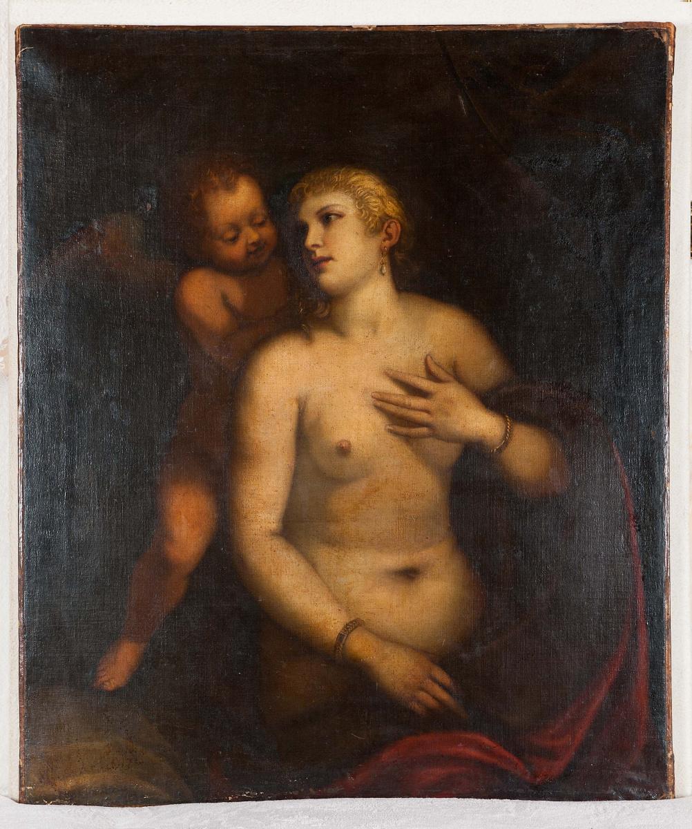 Tiziano Vecellio. Venere e amore
