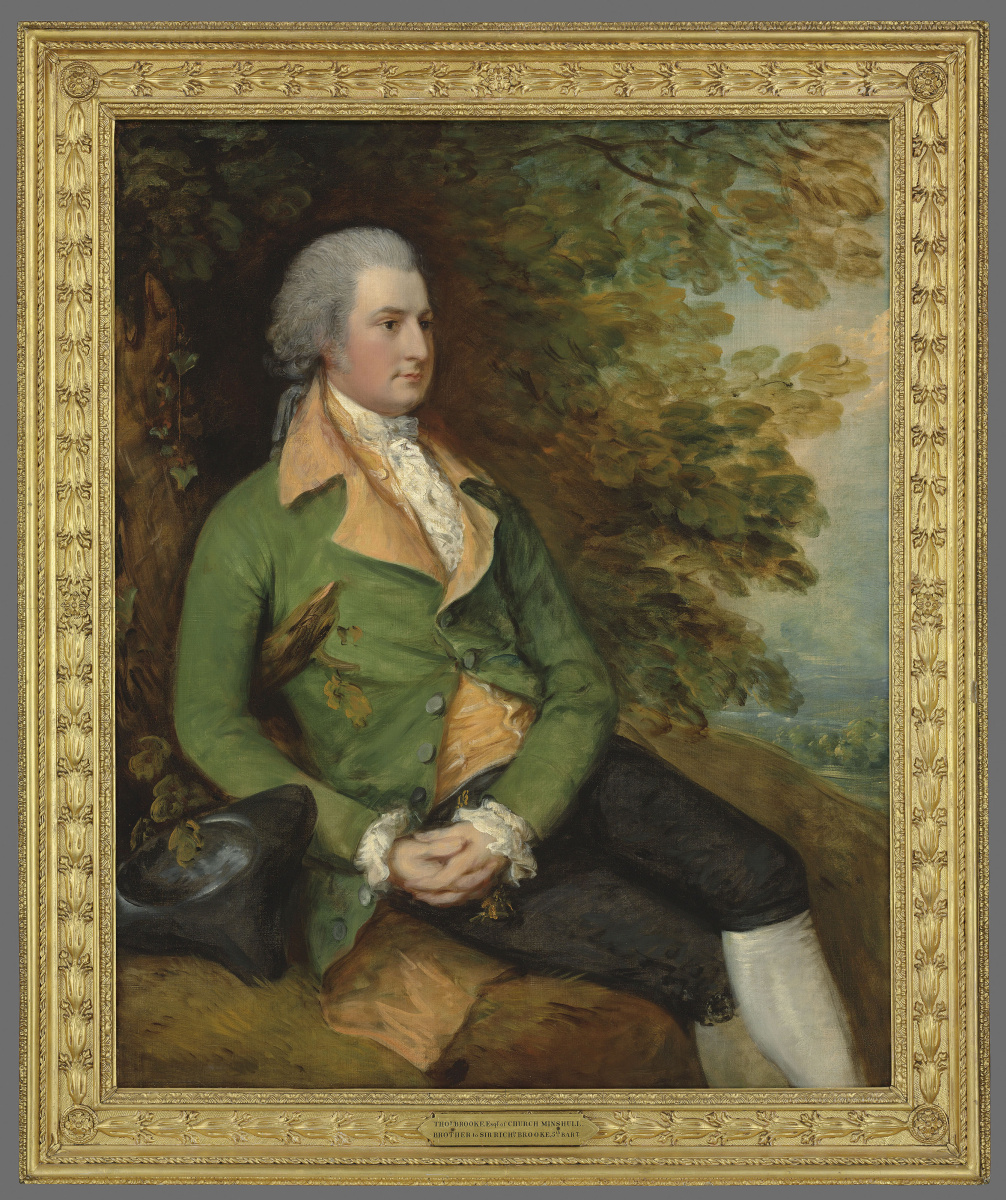 Portrait of Thomas brook in a wooded landscape