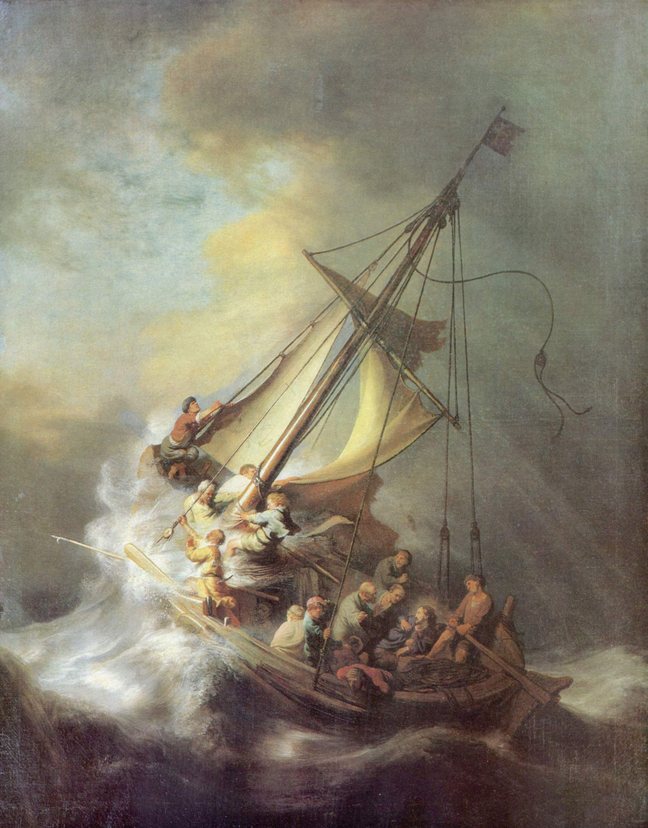 Рембрандт Ван Рейн. Христос во время бури на Галилейском озере