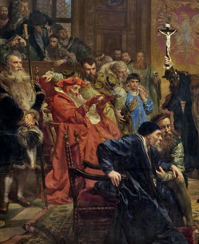 Ян Матейко. Люблинская уния. Фрагмент IV