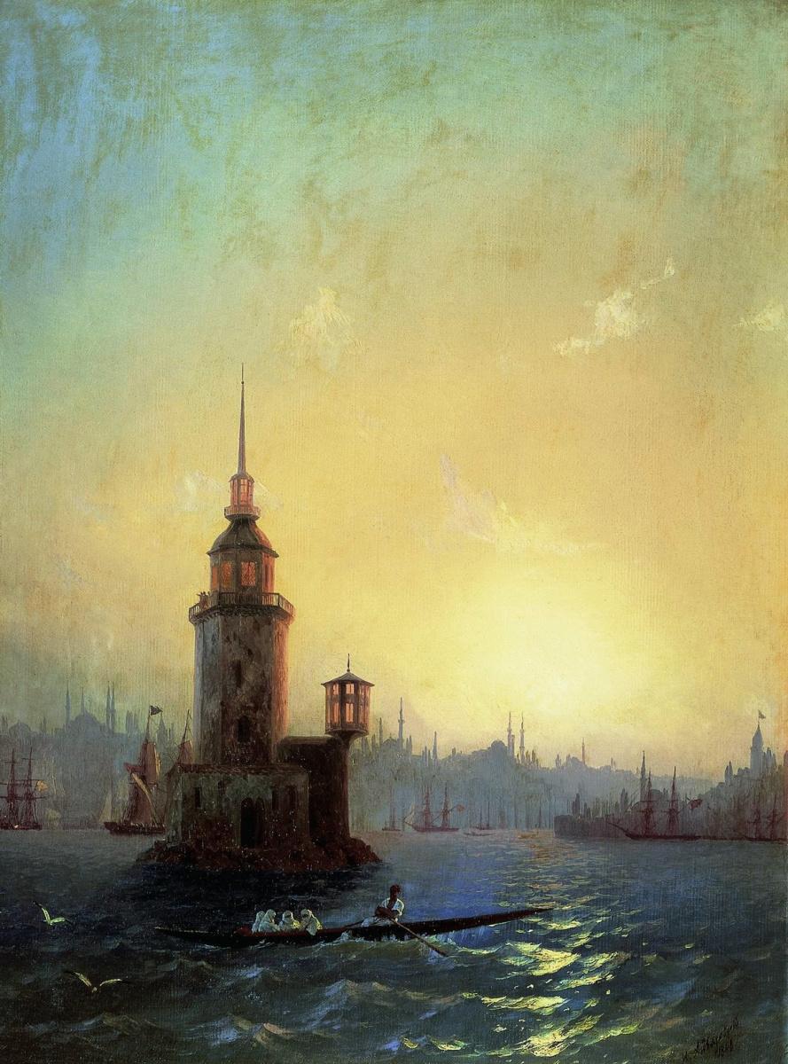 Иван Константинович Айвазовский. Вид Леандровой башни в Константинополе