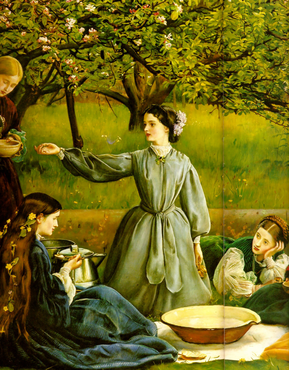 Джон Эверетт Милле. Цветущие яблони (Весна). Фрагмент III