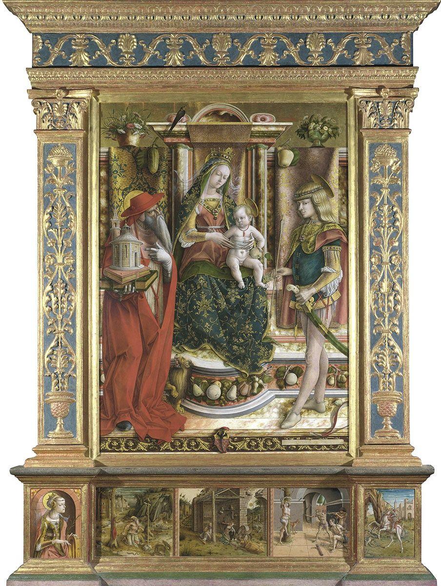 Карло Кривелли. Алтарь семьи Одони (Алтарный полиптих церкви Сан Франческо в Мателике)
