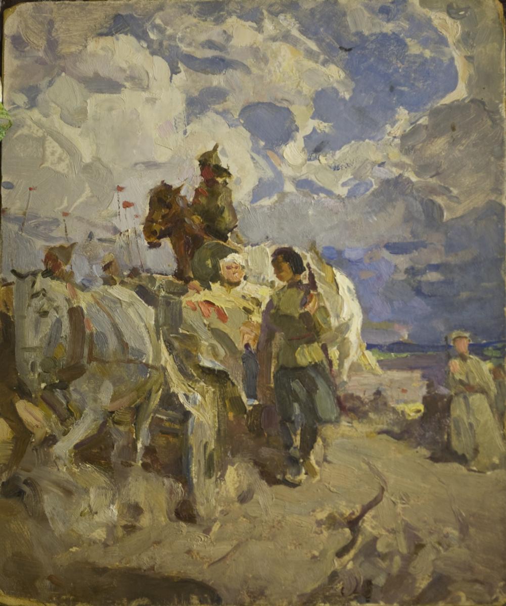 "Gennady Pavlovich Sorogin. ""Old hikes"" sketch"