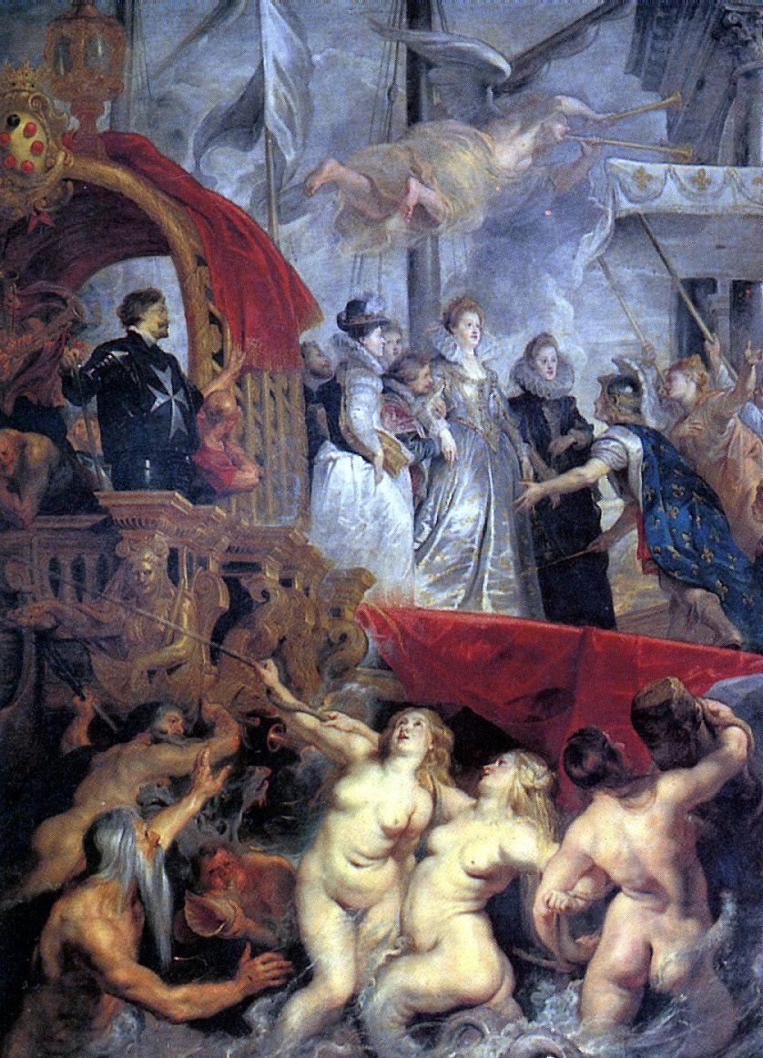 Питер Пауль Рубенс. Прибытие Марии Медичи в Марсель