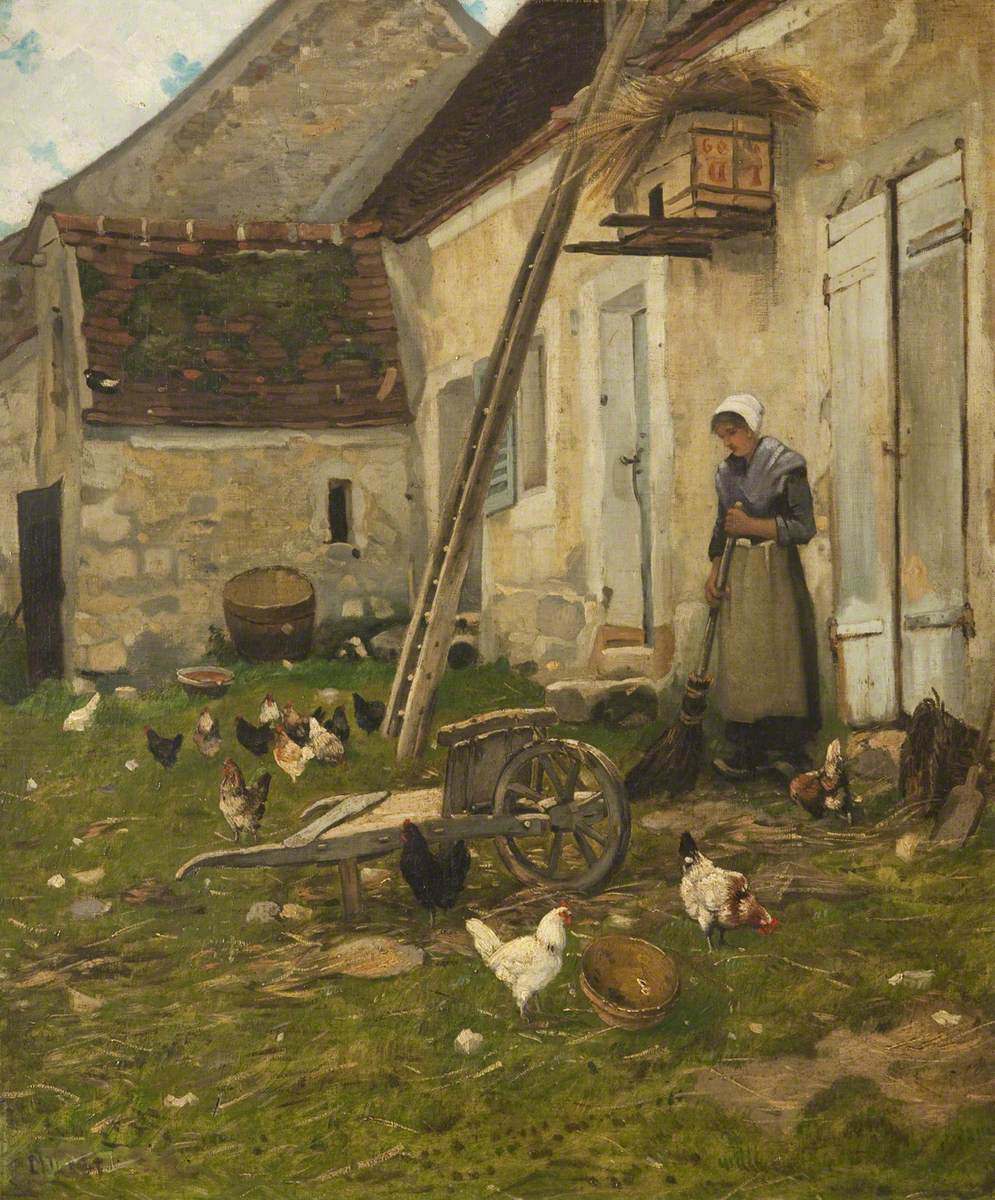 Jean-François Millet. Peasant yard