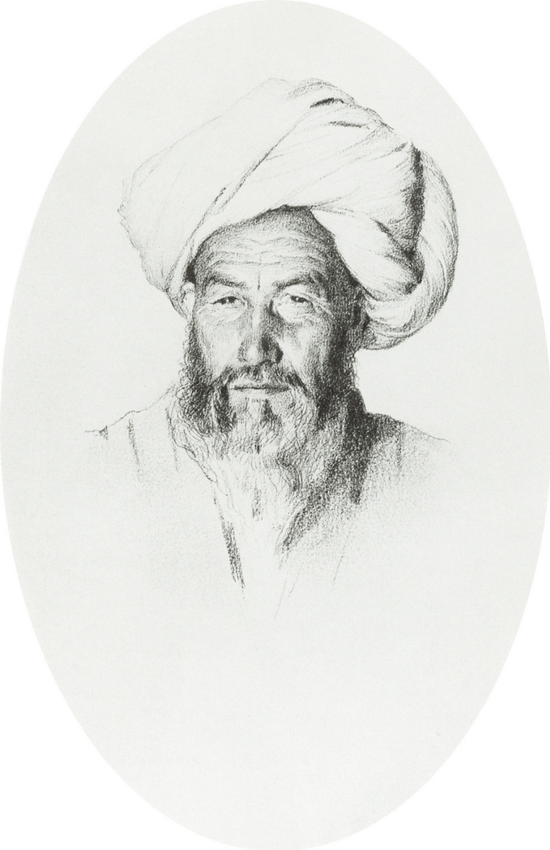 Василий Васильевич Верещагин. Узбек, старшина (аксакал) деревни Ходжагент