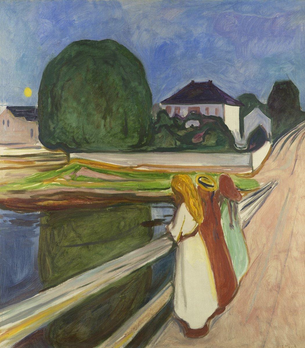 Edvard Munch. The girls on the bridge