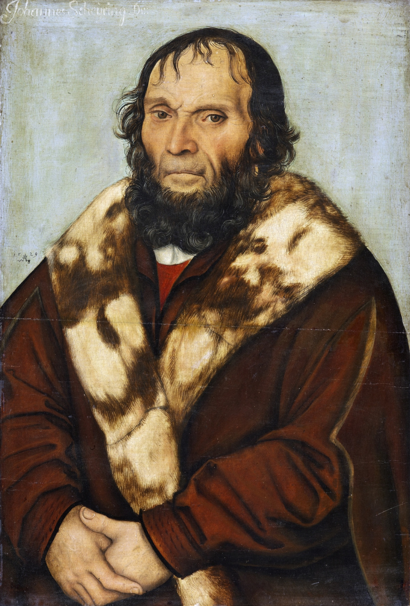 Lucas Cranach the Elder. Portrait of Magdeburg theologian Dr. Johannes schöner of