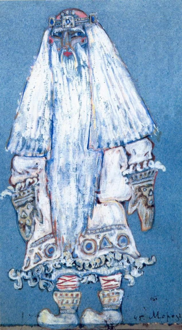 "Nicholas Roerich. Frost. Costume design (Santa Claus) to ""the snow maiden"" Opera by N.. Rimsky-Korsakov and the play A. N. Ostrovsky"