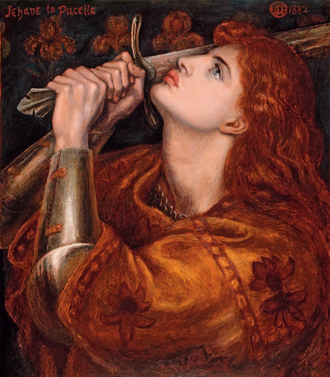 Dante Gabriel Rossetti. Joan of Arc (final version)