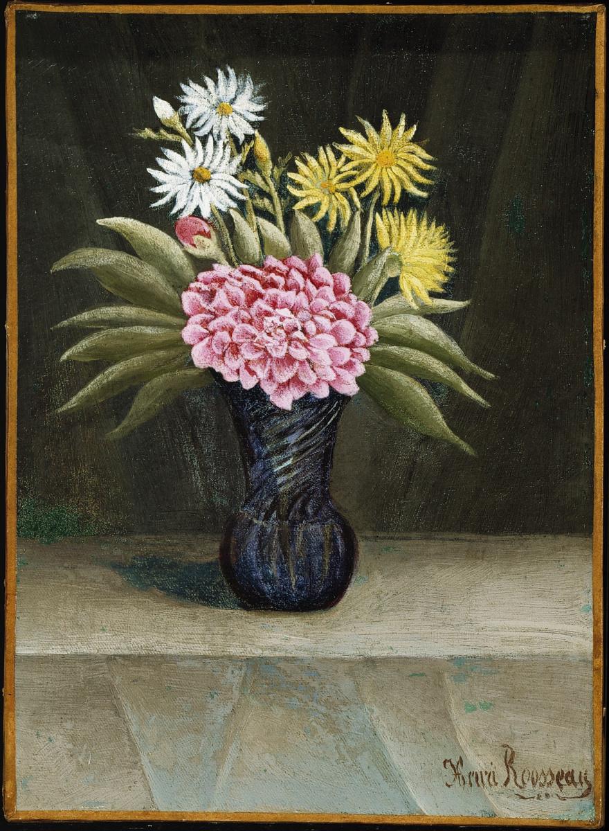 Анри Руссо. Ваза с цветами