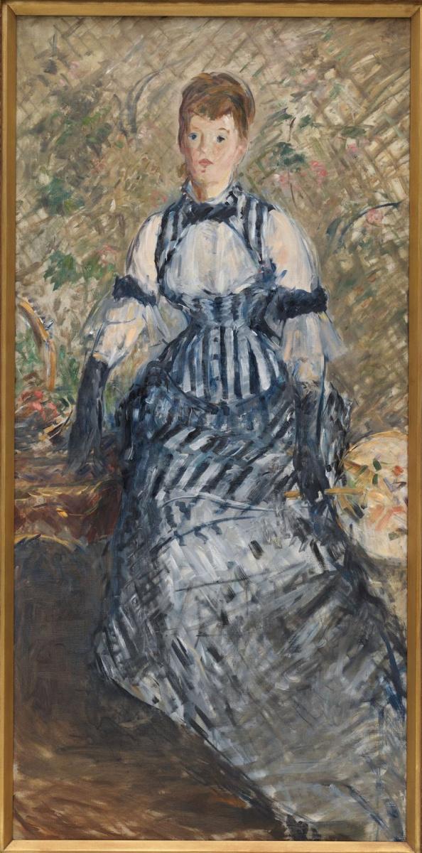Эдуар Мане. Женщина в полосатом платье