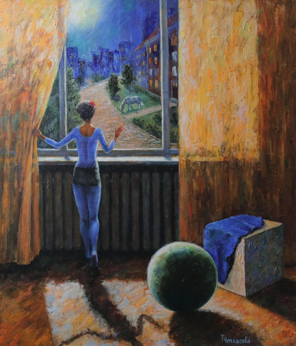 Tatyana Chepkasova. Girl by the window