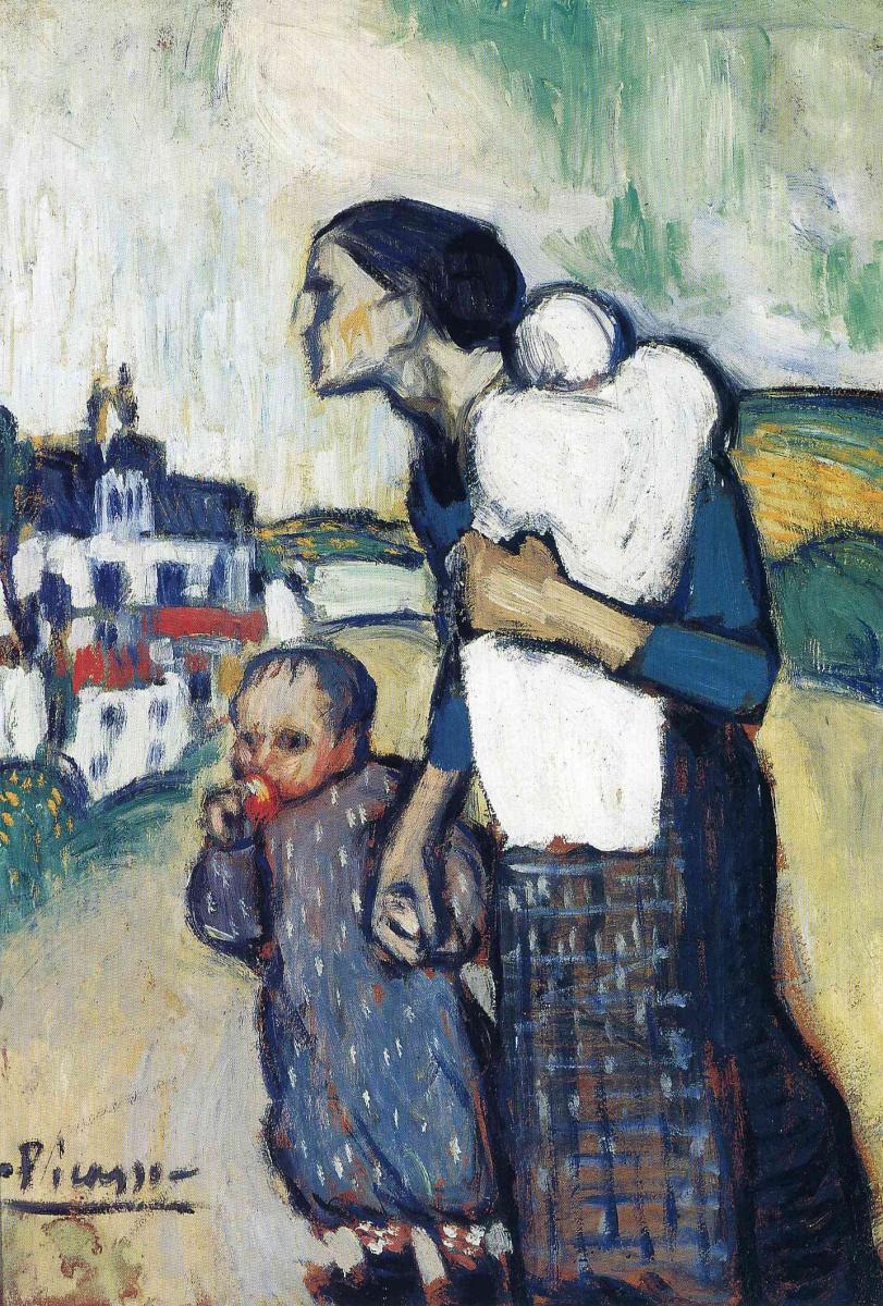 Пабло Пикассо. Мать с двумя детьми
