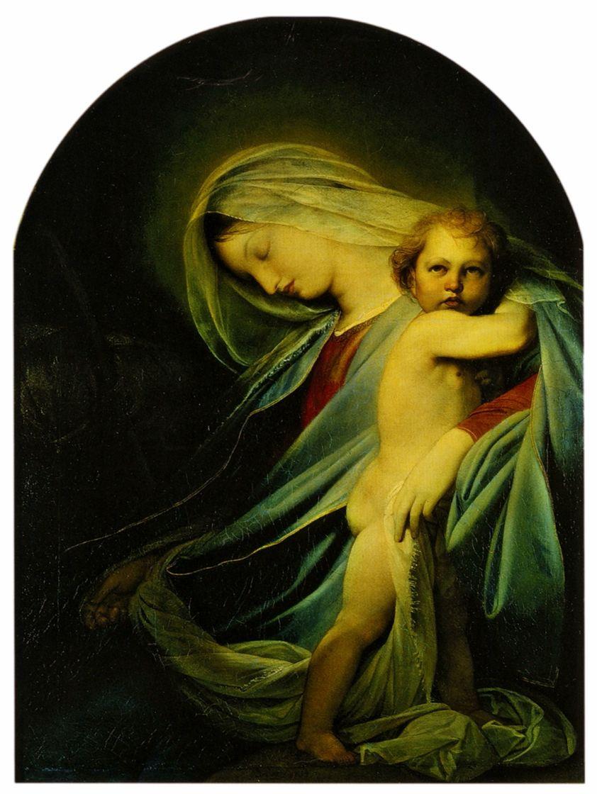 Fedor (Fidelio) Antonovich Bruni. The virgin and child, resting on the flight into Egypt