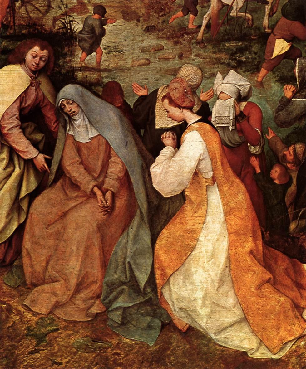 Питер Брейгель Старший. Шествие на Голгофу (Несение креста). Фрагмент 4