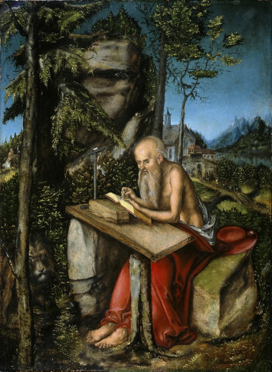 Лукас Кранах Старший. Святой Иероним в скалистом пейзаже