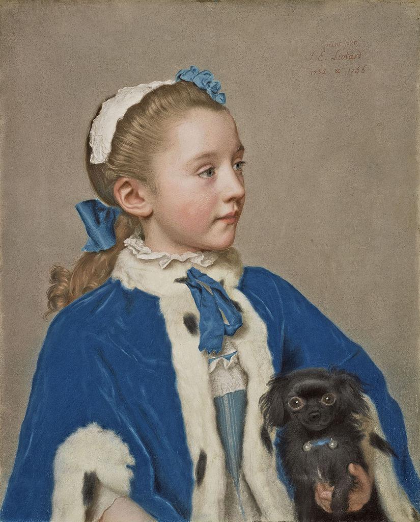 Jean-Etienne Liotard. Maria Frederica van reede-Athlone at seven years of age